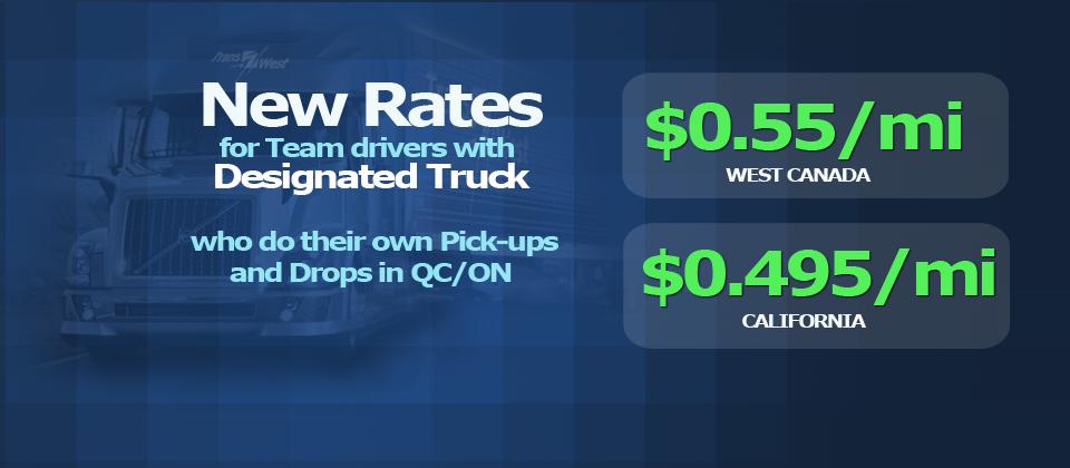 Designated trucks